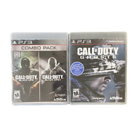 Playstation 3 PS3 Video Game Lot Bundle Call of Duty Ghosts Black Ops Combo Pack
