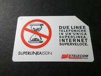 Telefonkarte Italien, Italia, Super Linea Isdn, Telecom, Verwendet, Phone Card