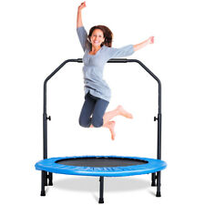 Mini Rebounder Trampoline With Adjustable Hand Rail Bouncing Workout Exercise