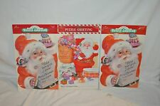 3 Hallmark vintage Santa Puzzle Christmas Cards Unused Usa Made
