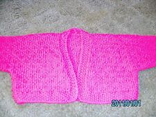 New Hand Knitted Wool and Cashmere Babies Shrug size 18 inches