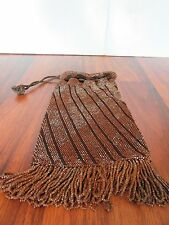 Vintage  Mesh Metal Purse with draw string