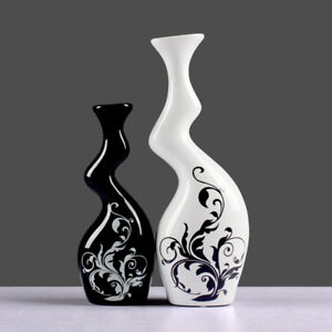 Modern Home Furnishing Ceramic Ornaments Pottery Twisted Vases- A set