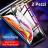 2x Pellicola Vetro Temperato 5D CURVO Protezione Completa per iPhone XS Max XR X