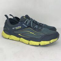 Columbia Mens Fluid Flex XSR BM4637-413 Blue Yellow Mesh Running Shoes Size 10.5