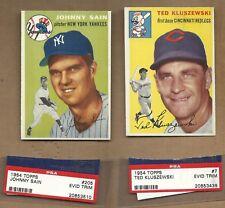 ( 2 )  1954  TOPPS  STARS   KLU  # 7 &  SAIN  # 205