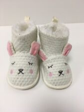 Baby Girl Booties Size 9 12 Months White New Cute Warm Fur lined Boots