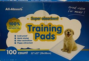 "All-Absorb 71 Count Super Absorbent Puppy Dog Pet Training Pads 22"" x 23"""