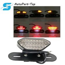Smoke Motorcycle16LED Turn Signal Light Brake Driving License plate Tail Light