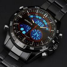 INFANTRY Herren Quarzuhr Digital Armbanduhr Uhr Chronograph Alarm Fliegeruhr