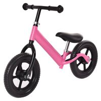 "12"" Durable Balance Train Bike Kids No-Pedal Learning Ride Bicycle Black/Pink US"