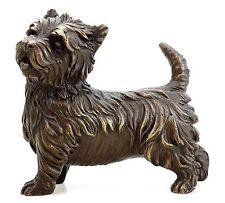 Realistische Hundefigur West Highland Terrier - Westie - Tierbronze - sign. Milo
