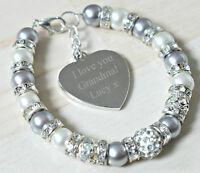 Engraved Personalised Birthday Grandmother Granny Nonna Nana Bracelet Gift