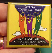 Kiwanis Button - AYUSA Youth Exchange Kiwanis International button - colorful!