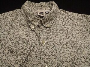 Kennington Mens XL Short Sleeve Button-Down Cotton Multicolor Geometric Shirt