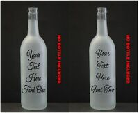 Mr /& Mrs Wedding Day Vinyl Wine Bottle Sticker LED Wedding Day  60 FONTS