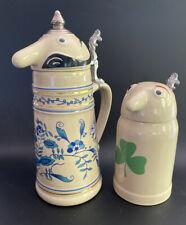 Vintage Schultz & Dooley Beer Steins Germany Webco Mint
