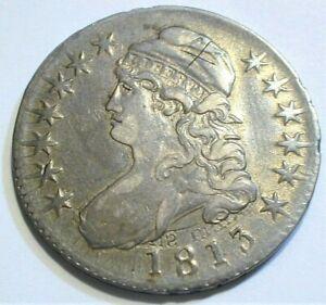 "1813 USA Capped Bust Silver Half Dollar XF+ Strike through   ""X on Hat""  (551)"