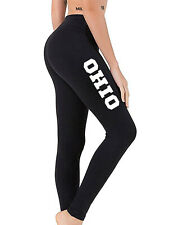 Women Petite Ohio State Black Yoga Leggings V705 Home Town Pride City Workout OH