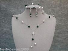 33~ Hergestellt auf Bestellung Farb Perlen Schmuckset Halskette Armband Ohrringe