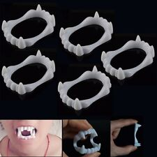 5Pcs Happy Halloween Fancy Dress Teeth Vampire Ghost Zombie Fangs Party Costume