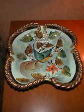 Coupe à fruits en faïence peinte émaillée H. Bequet Quaregnon Belgique