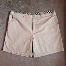 Burberry london Shorts Casual GOLFING Cotton Nova CHECK chino Mens Beige SIZE 58