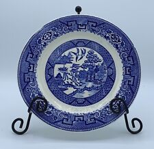 Antique Green Stamped Homer Laughlin C54N6 BLUE WILLOW 8.25 Side Plates