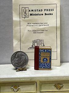 Vintage Artisan AMISTAD PRESS '80 McGuffy's Primer Book Dollhouse Miniature 1:12
