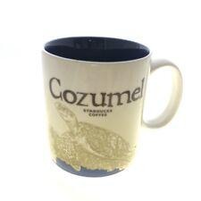 Starbucks Cozumel Global Icon  Souvenier Coffee Mug Turtle Mexico 16 oz New