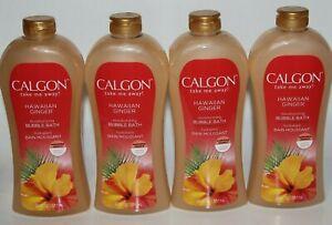 LOT (4) CALGON HAWAIIAN GINGER BUBBLE BATH 30 FL OZ TAKE ME AWAY MOISTURIZING