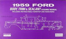 1959 Ford Car Body and Interior Assembly Manual 59 Galaxie Fairlane Ranchero