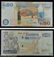 Zambia 50 Kwacha Commemorative Banknote 2014 UNC
