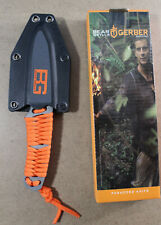 Gerber Bear Grylls Orange Paracord Wrapped Fixed Blade /BRAND NEW/ With Sheath