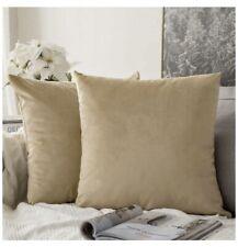 Miulee Set of 2, Velvet Khaki, Throw Pillow Cushion Cover 18x18