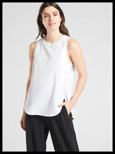 Athleta NWT Women's Zephyr Tank Size Med Color White