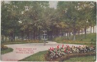 Indiana In Postcard 1913 WINONA LAKE Duke's Fountain WINONA HOTEL