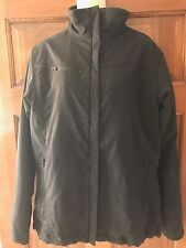 COLUMBIA Titanium Jacket Womens Large Black Fitted Fully Lined Part Faux Fur