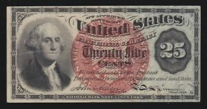 US 25c Fractional Currency 4th Issue FR 1307 Ch AU (-004)