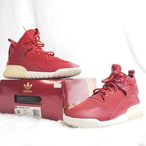Adidas Mens Size 10 Tubular X Chinese New Year CNY Red White AQ2548 With Box