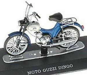 Moto Guzzi Dingo 50 cc 1963-76 Moped Mofa Kleinkraftrad blau blue 1:18 Atlas