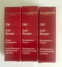 Clarins Joli Rouge Long Wearing Moisturizing Lipstick 3.5g .. Choose Shade...