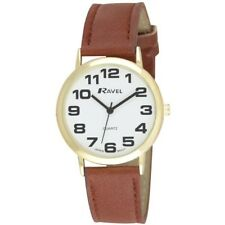 Ravel Mens Ladies Large Dial Clear  White Face Watch  R0105.22.1A