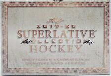 2019-20 LEAF SUPERLATIVE Colección Hockey Hobby caso (cajas de 12)