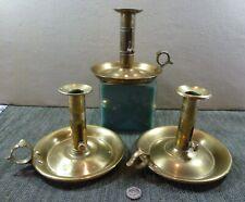 Three Antique Brass Chambersticks, 19th Century (BB8064)