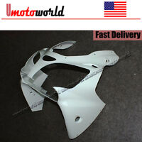 Unpainted Upper Cover Front Nose Fairing Cowl For Kawasaki Ninja ZX6R 2000-2002
