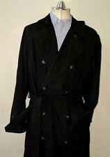 Ralph Lauren Hommes Fashion Pluie Manteau Noir Taille 40R Long Ceinture Croisé