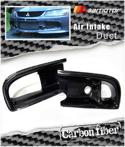 Carbon Front Bumper Dual Air Intake Duct fit for Mitsubishi Evolution IX EVO 9