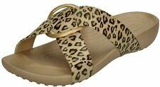 Crocs Serena Leopard Print Crossband Slide with Buckle