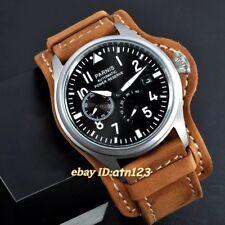 Parnis 47 mm acier date Réserve de puissance Seagull 2530 Automatic Men's Watch 1747